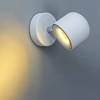 Sconce/Wall Sconces Modern LED Bedside Wall Sconce Cord Lighting Fixture 350 Rotation Adjustment Wall Lamp for Bedroom 10W...
