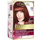 L Oréal Paris Excellence Creme, Tinta Colorante con Triplo Trattamento Avanzato, Copre i Capelli Bianchi, 4.56 Castano Mogano Rosso