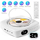 DVD CD Player, Portable Wall Mountable Bluetooth Player Built-in HiFi Speakers HDMI Home Audio Boombox with Remote Control FM Radio USB MP3 3.5mm Headphone Jack for Student Gifts