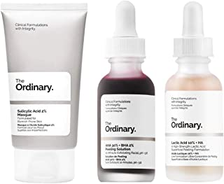 The Ordinary Face Exfoliator Set! AHA 30% + Bha 2% Peeling Solution Help Fight Visible Blemishes! Lactic Acid 10% + Ha For...