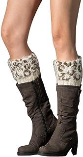 Calcetines De Moda Para Para Dchen Calcetines Punto De Hombres Ropa festiva Mujer Invierno Cálido Otoño Invierno Leopardo Bordes Enrollados