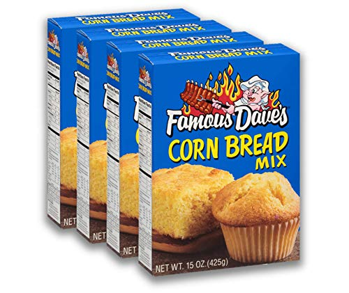 Famous Dave's Corn Bread Mix, 15 Ounce, Pack of 4