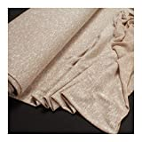Stoff Baumwolle Polyester Nylon Lurex Single Jersey beige