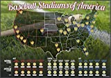 Baseball Stadiums of America Scratch Off Map   Lists National & Major League Teams   MLB Ballpark Wall Poster, Bucket List, & Tracker of Visited Parks   Gift for Baseball Enthusiasts & Sport Fans