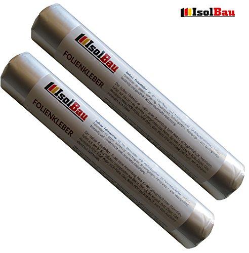 Folienkleber 2 x 600 ml Schlauchbeutel Dichtkleber Klebedichtmasse Dampfbremse EPDM Teichfolienkleber Montagedichtstoff Dichtmasse