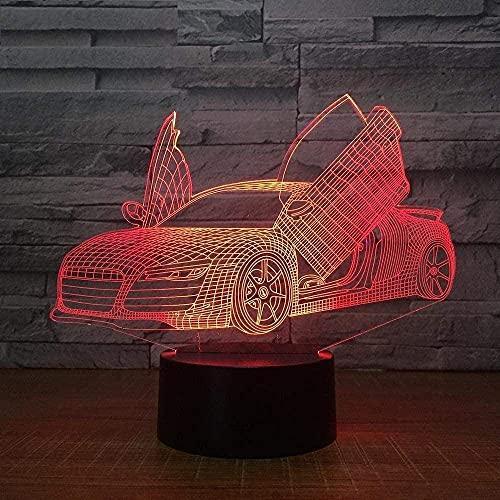 Luz De Puerta De Tijera Con Ilusión 3D, Luz De Noche Led Para Niños De 7 Colores, Mesa De Comedor Led Táctil, Luz Usb, Luz De Noche, Barco De Luz De Sueño 3D