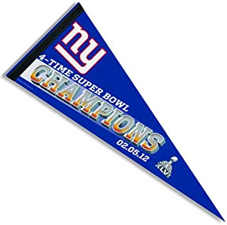 WinCraft New York Giants Super Bowl 46 Champions Player Pennant