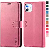 TUCCH iPhone 11 Case, iPhone 11 Wallet Case, PU Leather Flip Folio Cover with TPU Shell Magnetic Closure Card Slots Kickstand RFID Blocking Compatible with iPhone 11 (2019 Release 6.1 inch), Hot Pink i phone 6 slim case Oct, 2020