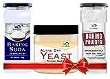 GreenFinity Combo Pack Dry Yeast 100g + Baking Powder 200g + Baking SODA