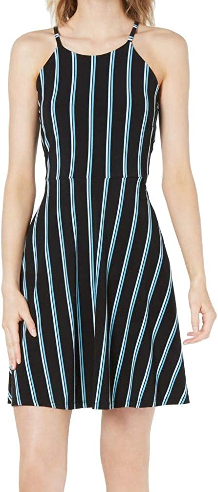 Bar III Women's Striped Halter Fit & Flare Dress
