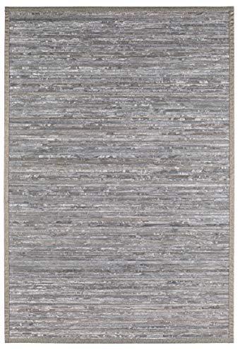 andiamo Alfombra de bambú, 50 x 80 cm, Color Gris