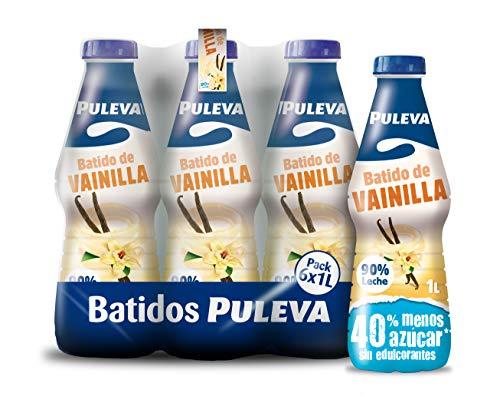 Central Lechera Asturiana Batido Vainilla - Paquete de 6 x 1000 ml - Total: 6000 ml