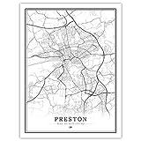 Lonfenner Leinwand Bild,Preston Großbritannien Abstrakte