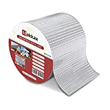 Super Waterproof Tape, 4 Inch X 16.5 Feet Duct Repair Tape, Aluminum Butyl Tape for RV Awning, Gutter, Vent, Pipe Repair, Sunroom, Pool, Window Seal, Metal Roof, Cracks and Holes Patch