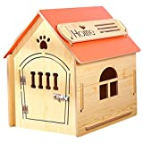Casa de Madera para Perros I Casa para Perros de Interior I Lugar para Dormir para Las Mascotas I Repelente al Agua y Estable I Varios tamaños y Colores (M (51 x 39 x 52), Style 1)