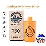 Outdoor Microbiological Bottle Filter   Replacement Filter for Ultimate Outdoor Travel Bottle   100 Gallon Filter Life   Removes Virus, Bacteria, Cysts