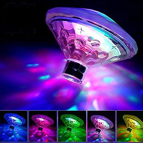 iShine Lumiere de Bain 7 Motifs Multicolore Flottant LED de Piscine pour Jacuzzi Spa Disco