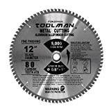 Toolman 12'' 80T Circular Saw Blade Premium For metal, aluminum, wood, steel cutting STH026
