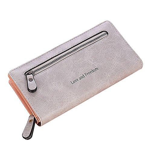 TEBAISE Geldbörse Damen Faux Leder Geldbeutel groß Lang Portemonnaie Portmonee mit vielen Kartenfächern Brieftasche Damengeldbeutel Damenbörse