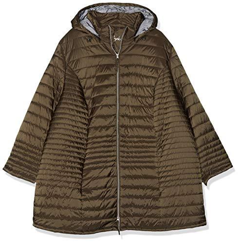 Ulla Popken Große Größen Damen Jacke Steppjacke mit Strukturfutter, Grau (Aragon 39), 46