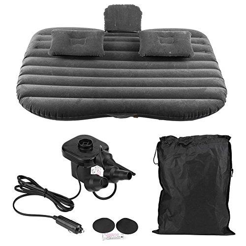 Dancal Auto Luftmatratze, Auto aufblasbare Bett Rücksitz Matratze Luftmatratze für Ruhe Schlaf Reisen Camping(Black)