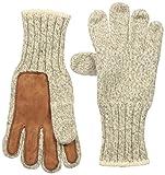 FoxRiver Men's Ragg & Leather Glove, Brown Tweed, Medium