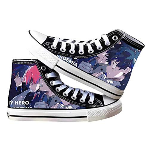 My Hero Academia Sneakers Deku Shoto Todoroki Cosplay Canvas Shoes for Women Men Girls
