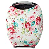 Kids N' Such Baby Car Seat Cover Car Seat Canopy & Nursing Cover, White Floral