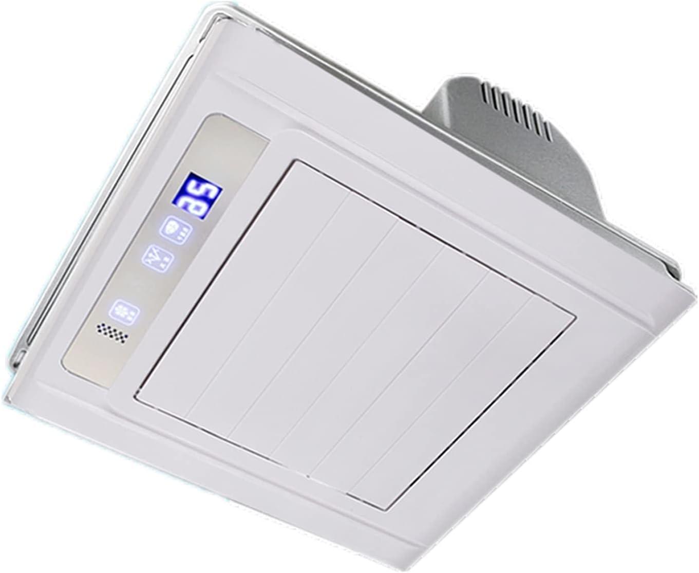 zlw-shop Ventilador de ventilación de Control Remoto Inteligente 30 × 30 cm Ventilador de Escape Integrado con Apagado del Temporizador y función de configuración de 2 velocidades