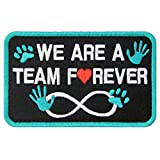 Service Dog We are A Team Forever Vests/Harnesses Patch Embroidered Badge Fastener Hook & Loop Emblem