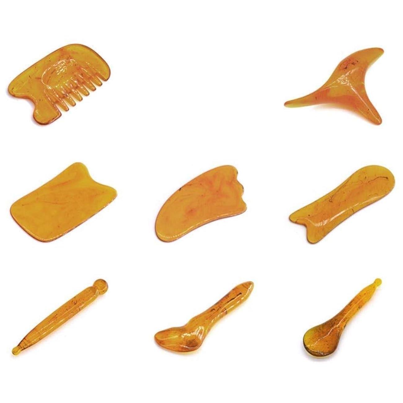 バケット前提条件警官Gua Shaのこするマッサージ用具のハンドメイドのヒスイGuasha板、用具SPAの刺鍼術療法の表面腕のフィートの小さい三角形の形の引き金のポイント処置