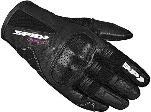 Spidi Charme 2 Damen Motorrad Handschuhe Schwarz/Weiß L