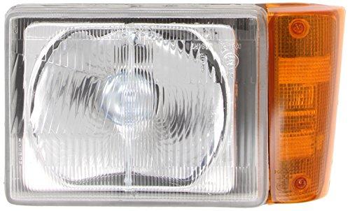 Alkar 3706013 Phare,cabochon avec feu, manuel, orange, lampe asymetrique, H4