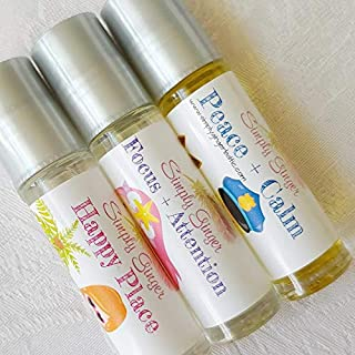 Little Girls Rollerball Trio, Happy Place+Attention+Peace, Essential Oil Rollers, Kid Safe, Back To School Essentials