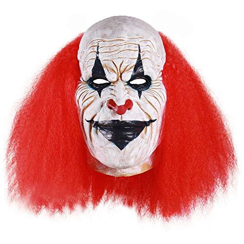 Adults Creepy Clown Face Mask Scary Joker Masks for Halloween(Blue)