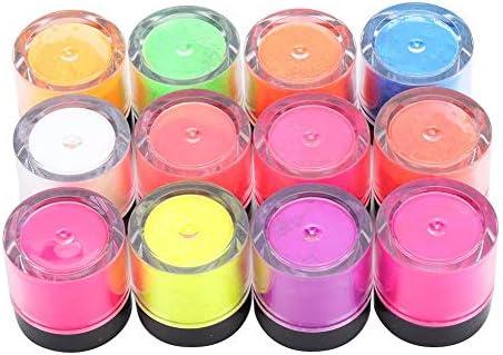 12 kleuren Fosfor Poeder Fluorescerende Poeder Nail Fluorescerende Nagel Fosfor Poeder Halloween Nail Art DIY Fluorescerende Poeder Manicure ToolFOB