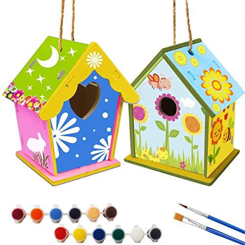 xinxintai DIY Vogelhaus Kit für Kinder, basteln Bauen Kinder vogelhaus bausatz Holz Handmade Arts Home Aktivitäten Dekoration