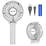 VersionTECH. Mini Handheld Fan, Personal Portable Desk Stroller Table Fan with USB Rechargeable Battery Operated Cooling Folding Electric Fan for Office Room Outdoor Household Traveling White battery operated fans May, 2021