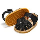 KIDSUN Infant Baby Girl Sandal Rubber Sole Anti-Slip Toddler Closed Toe Summer Slippers First Walking Flower Princess Flats Shoes