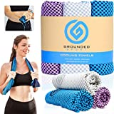 Microfibre Towel 3 Pack - Lightweight Sweat Towel for Beach, Gym, Swimming & Travel - Quick Dry Towel for Neck & Face During Sports, Yoga, Camping, Work & Hot Weather for Men & Women