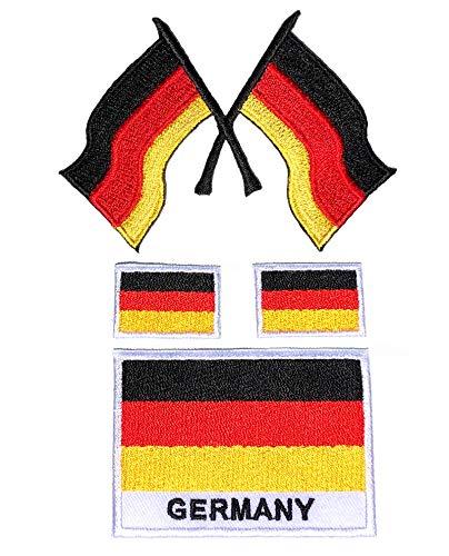 i-Patch - Patches - 0193 - Deutschland - Flagge - BRD - Wappen - Berlin - Bundeswehr - US-Army - Militär-isches - Abzeichen - Applikation - Aufbügler - Flicken - Aufnäher - Sticker - Bügelbild