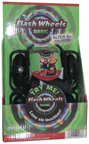 Sunflex Kinder Flash Wheels Basic, schwarz, bis 60 kg