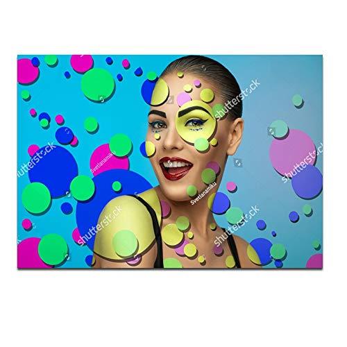 baodanla Nessuna corniceFashion Makeup Girl Wall Art Decorative NG for Living Room,Girl's Room Canvas Prints Modern Girl Picture Home Decor60x90cm