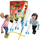 Stomp Rocket The Original Jr. Glow Rocket, 4 Rockets and Toy Rocket Launcher - Outdoor Rocket Toy Gift for Boys and Girls Ages 3 Years and Up