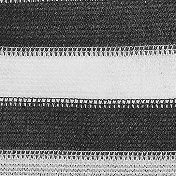 vidaXL Tapis de Tente Tapis de Camping Tapis d'Auvent de Caravane Patio Extérieur Résistance aux Intempéries Respirant 250x500 cm Anthracite et Blanc