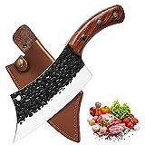 Cuchillo de cocina para todos los propósitos, cuchillo profesional forjado a mano, cuchillo universal, cuchillo picador, cuchillo de cocina estilo damasco, cuchillo de cocina, mango de madera