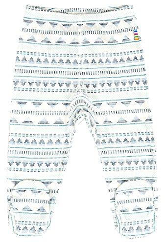 JOHA Bébés Garçons Pantalon avec Pied Barboteuses ARCTIC tricoté en Laine mérinos et Soie en bleu - Bleu, 0-1 mois / 50