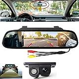 VIGORFLYRUN PARTS LTD 4.3'Monitor de estacionamiento del Espejo retrovisor del Coche + sensores de estacionamiento de Video con cámara de visión Trasera