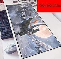 ゲーミングマウスマットラージマウスMat900X400mm、スピードゲーミングマウスパッド、3ミリメートル厚のベースと拡張XXL大きなマウスマット、ノートPC向け、PC (Color : E)