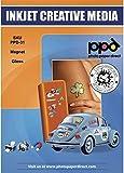 PPD Inkjet - A4 x 5 Hojas de Papel Fotográfico Magnético Brillante - Imán Imprimible Personalizable - Recortable con Tijeras Domésticas - Para Impresora de Inyección de Tinta - PPD-31-5